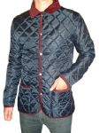 Bosworth - Quilted Jacket (navy with burgundy cord trims)